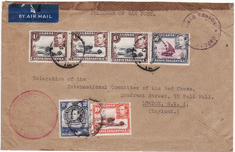 [18744]  KENYA - GB …WW2 POW to RED CROSS.....  1945 (Mar 29)
