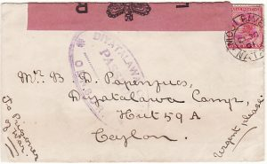 SOUTH AFRICA - CEYLON….BOER WAR POW MAIL….
