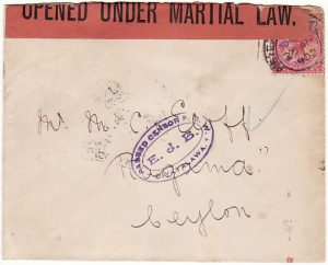 SOUTH AFRICA - CEYLON….BOER WAR POW….