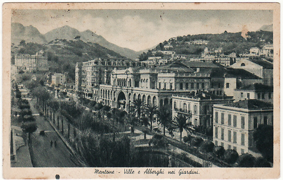 [19040]  ITALY…ITALIAN OCCUPATION of MENTONE…  1941 (Jul 7)