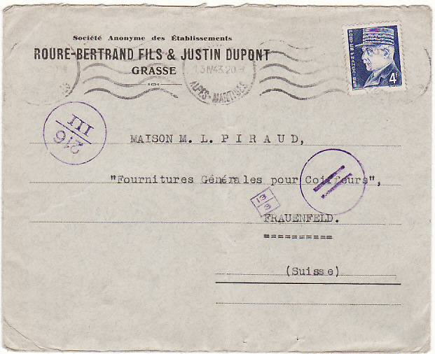 [19050]  FRANCE - SWITZERLAND…ITALIAN OCCUPATION of S.E. FRANCE…  1943 (Apr 13)
