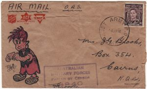 PAPUA & NEW GUINEA - AUSTRALIA….WW2 HAND DRAWN CARTOON CHARACTER…