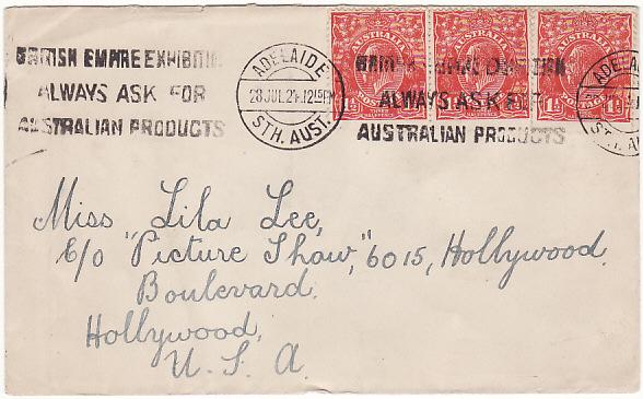 AUSTRALIA - USA…HOLLYWOOD FILM STARS & STUDIO'S…