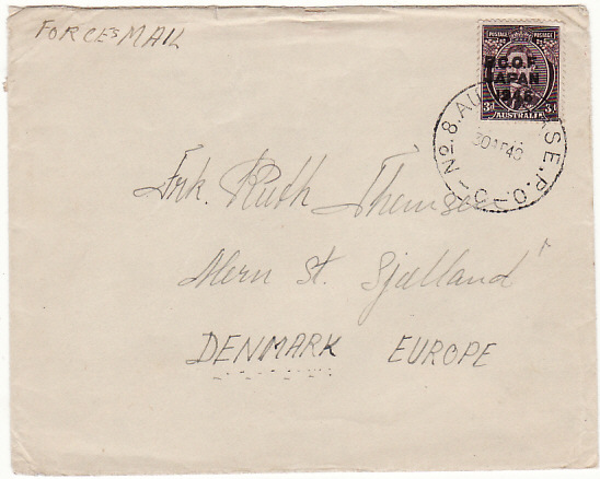 [18844]  JAPAN - DENMARK…AUSTRALIAN BCOF FORCES MAIL …  1948 (Apr 30)