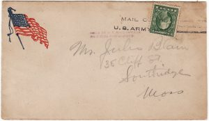 USA….201st AERO SQUADRON AEF in FRANCE with HELD BY US MAIL CENSOR…..