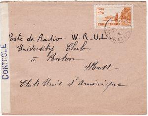 St. PIERRE et MIQUELON - USA….WW2 CENSORED…
