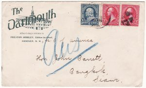 USA - THAILAND....1896 INCOMING MAIL ..