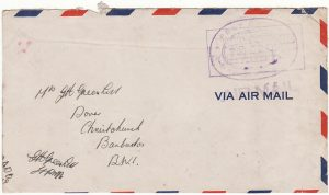 BERMUDA - BARBADOS…WW2 NAVAL MAIL…
