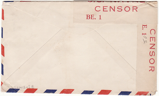 [16945]  BERMUDA - USA...WW2 CENSORED US NAVAL FORCES…  1942 (Jan 25)