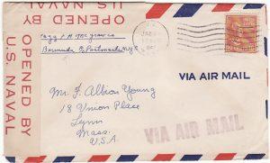 BERMUDA - USA...WW2 CENSORED US NAVAL FORCES…
