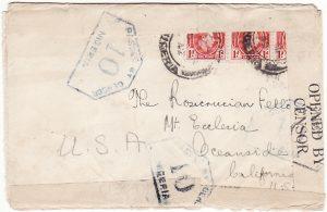 NIGERIA - USA...WW2 ALL ROUND CENSORSHIP…