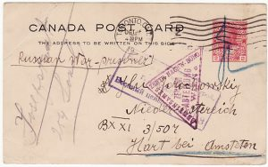CANADA - AUSTRIA...WW1 RUSSIAN POW...