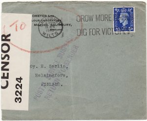 GB - FINLAND...WW2 POSTAL SERVICE SUSPENDED …