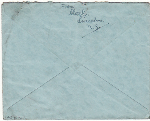 [18085]  NEW ZEALAND - GB...1941 NOT OPENED BY CENSOR AIR MAIL VIA HORSESHOE ROUTE…  1941 (Nov 8)