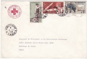 LAOS - CHILE…1958 RED CROSS.....