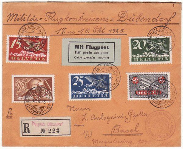 SWITZERLAND…1925 MILITARY FLIGHT...