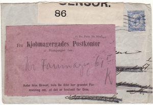 GB - DANMARK…WW1 CENSORED & RETURNED…