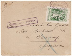 NETHERLANDS - BELGIUM…WW1 BELGIAN REFUGEE RETURNED MAIL..