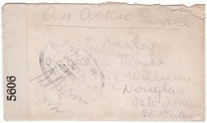 GREAT BRITAIN …WW1 25th BN. MIDDLESEX REGT. with WAR OFFICE CENSOR..