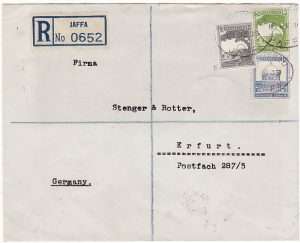 PALESTINE - GERMANY..1935 BRITISH MANDATE PERIOD REGISTERED…