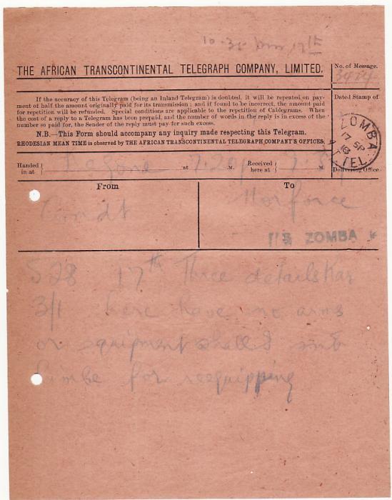 EAST AFRICA….WW1 NYASALAND FIELD FORCE …