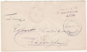 SOUTH WEST AFRICA …WW1 INTERNAL POW MAIL