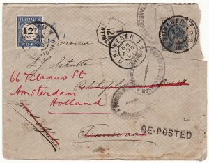 HOLLAND-SOUTH AFRICA-HOLLAND [BOER WAR/POSTAGE DUE]