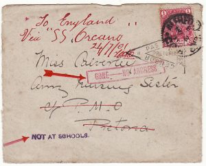 SOUTH AFRICA..BOER WAR NURSES MAIL GONE - NO ADDRESS...