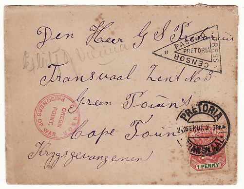SOUTH AFRICA…BOER WAR TRANSVAAL to C.O.G.H. POW MAIL…