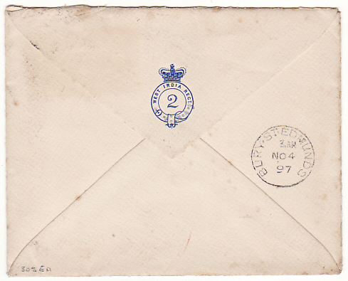 [11379]  SIERRA LEONE-GB [2ND WEST INDIAN REGT.] 1897(Oct 20)