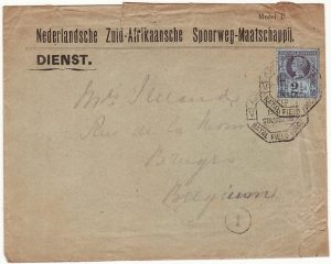 SOUTH AFRICA-BELGIUM [BOER WAR-NATAL-CAPTURED STATIONARY]