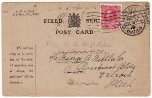 FRANCE-CANADA-USA...WW1 CANADIAN FORCES & FORWARDED..