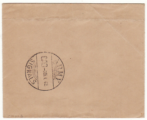 [15465]  GB…WW2 DESPATCH RIDER LETTER SERVICE..  1942 (Jan 3)
