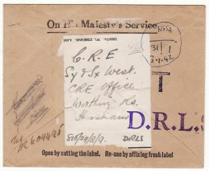 GB…WW2 DESPATCH RIDER LETTER SERVICE..