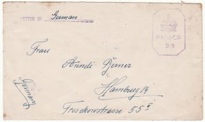 JAMAICA-GERMANY...POW MAIL CENSORED in ITALY..
