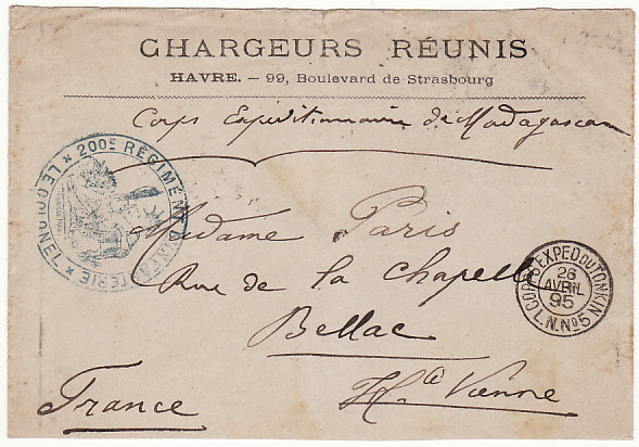 [15146]  INDO-CHINE-FRANCE ...FRENCH OCCUPATION..  1895(Apr 26)