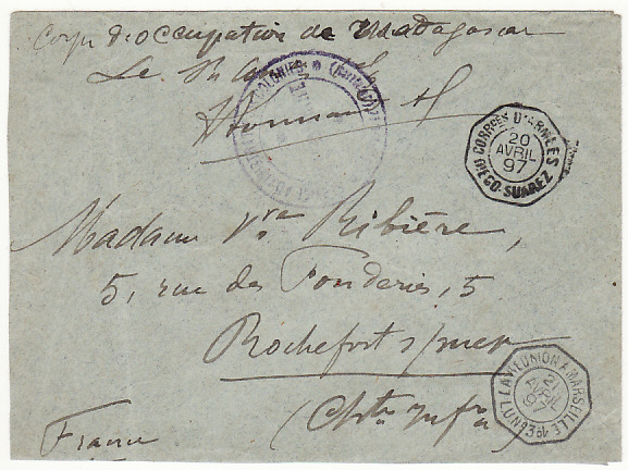 [15152]  MADAGASCAR - FRANCE...2nd FRENCH EXPEDITION 1895-1905..  1897 (Apr 20)