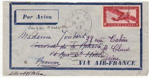 INDO-CHINE-FRANCE…AIRMAIL from ANNAM