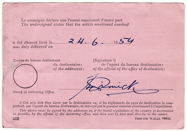 [15535]  GB-INDIA...REGISTERED A.R to SIKKIM with ADVISE RECEIPT & RETURNED…  1954(Jun 17)