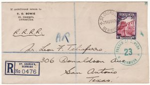 BERMUDA-USA ..WW2 REGISTERED AR & CENSORED…