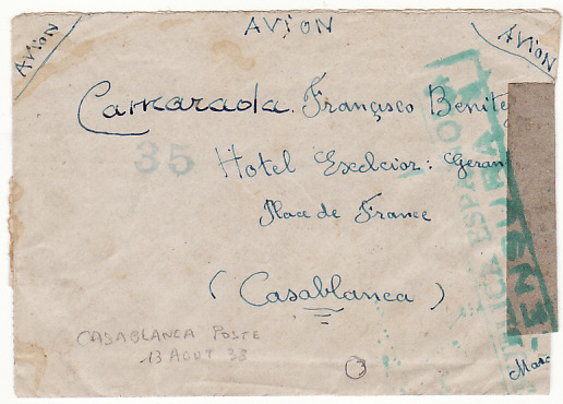 [19488]  SPAIN - MOROCCO…SPANISH CIVIL WAR INTERNATIONAL BRIGADE…  