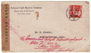 NED. EAST INDIES…1940 CENSORED INTERNAL MAIL to GERMAN INTERNEE…