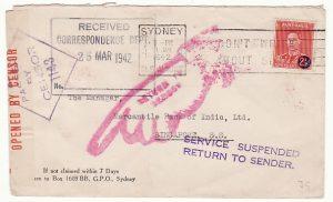 AUSTRALIA-SINGAPORE...SERVICE SUSPENDED..