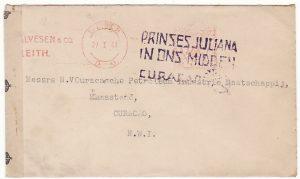 GB-NEDERLANDS WEST INDIES…WW2 CENSORED..
