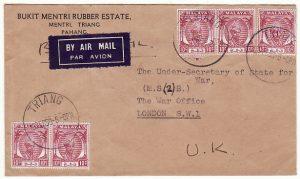 MALAYA-GB….PAHANG to WAR OFFICE M.S. 2…