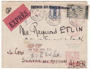 MOROCCO-ALGERIA-USA [WW2-FRENCH MILITARY MISSION]
