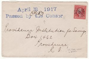 USA…...EARLY WW1 CENSORED NAVAL MAIL...