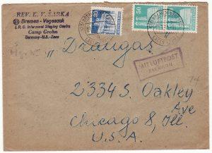 GERMANY-USA….1950 INT. REFUGEE ORGANISATION D.P. CAMP..