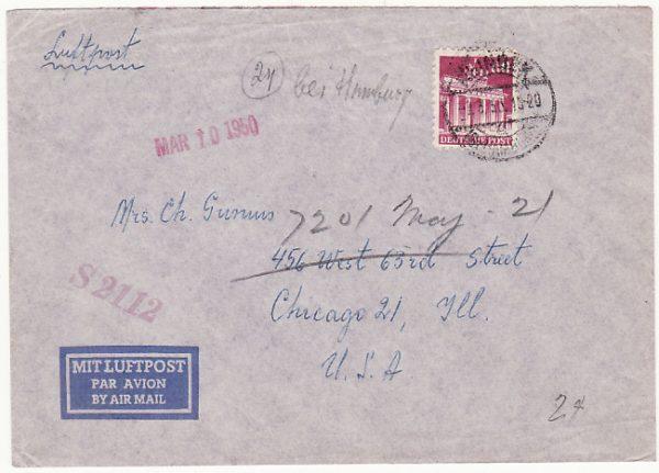 GERMANY-USA..1950 LITHUANIAN TRANSIT CAMP HAMBURG..