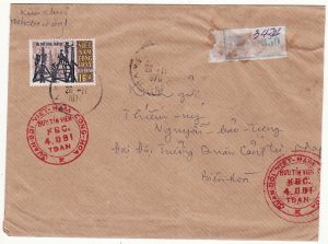 SOUTH VIET-NAM….REGISTERED MILITARY MAIL…